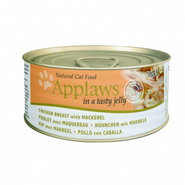 Natural Cat Food Pollo con sgombro in gelatina Applaws 5060333435127
