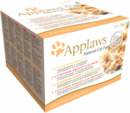 Natural Cat Food Chicken Selection Multipack von Applaws 12x70 g EAN: 5060333437374