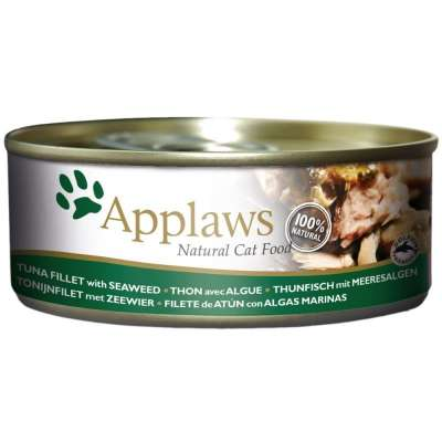Applaws Natural Cat Food Tuna Fillet with Seaweed 70 g, 156 g