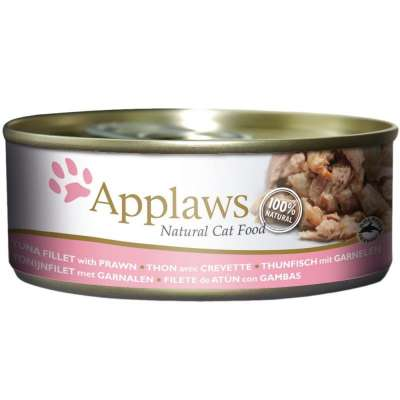 Applaws Natural Cat Food Tuna Fillet with Prawn 70 g, 156 g