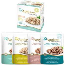 Portiezakjes Natural Cat Food Multipack Selection in Gelei 12x70 g van Applaws