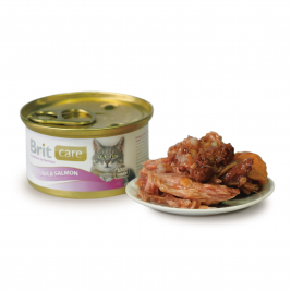 Care Cat Tuna & Salmon Brit  8594031443025