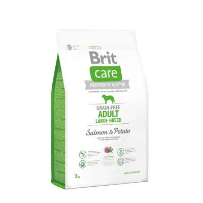 Brit Care Adult Large Grain-free med Lax och Potatis  3 kg, 12 kg, 1 kg