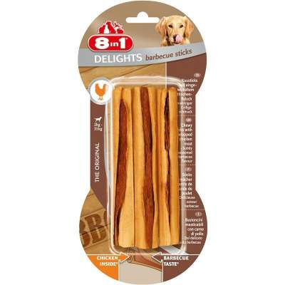 8in1 Delights Barbecue Sticks 3 kusů Barbecue