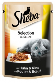 Portionsbeutel Delikatess Duo Huhn & Rind in Sauce Sheba  4770608251789