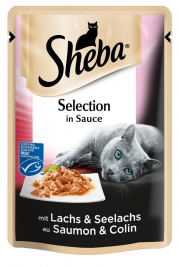 Sheba Selection in Sauce Losos a Treska pestrá  85 g