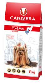 Canivera Puppy & Junior Toy & Mini Breeds Poulet et Agneau  8 kg