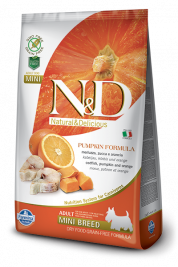 N&D Pumpkin Adult Mini mit Kabeljau und Orange von Farmina 800 g EAN: 8010276033222