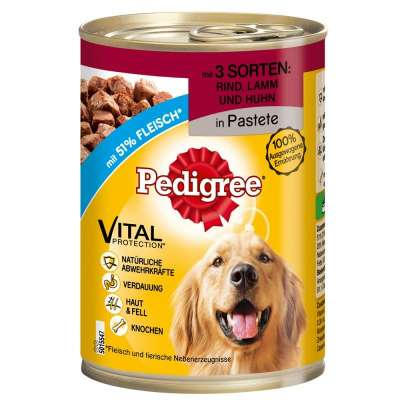 Pedigree Adult 3 Soorten Vlees in Pastei  400 g, 800 g