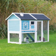 Trixie Natura small Animal Hutch with Enclosure  Himmelblå