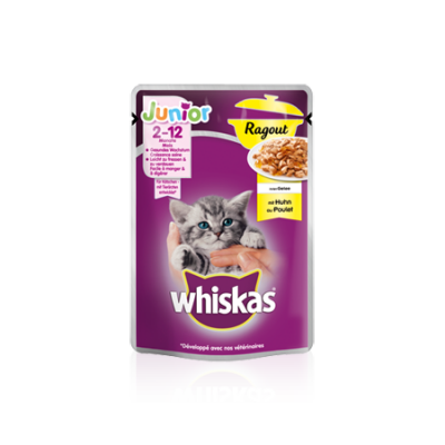Whiskas Junior Ragout con Pollo en Gelatina 85 g