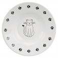 Trixie Ceramic bowl for short nosed breeds  Wit