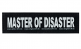 "Julius K9 Attachable Labels ""Master of disaster""  S"