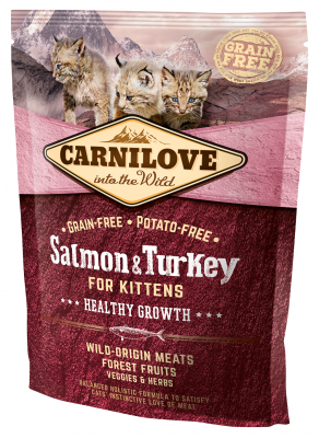 Carnilove Healthy Growth for Kittens mit Lachs & Truthahn 6 kg, 400 g, 2 kg