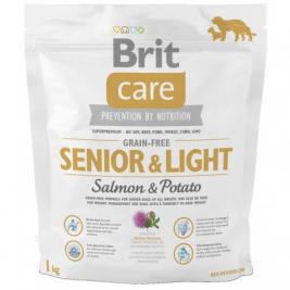 Brit Care Senior Light Grain-free med Lax och Potatis  1 kg