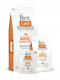 Care Adult Medium Breed med lam og ris fra Brit 12 kg