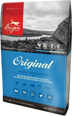 Orijen Original Dog Whole Prey  6 kg, 340 g, 2 kg, 11.4 kg