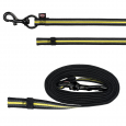 Trixie Fusion Sporting Training Leash, black/yellow  Gul