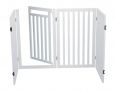 Dog Barrier with Door, 4 parts Hvid fra Trixie