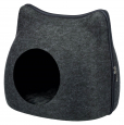 Trixie Cat Cuddly Cave, anthracite Dark gray