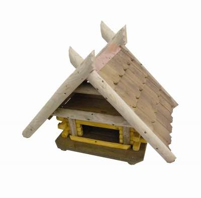 Elmato Bird Feeder Austria Luxus Marrom Claro 60x70x68 cm