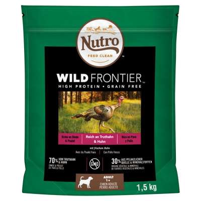 Nutro Nutro Wild Frontier Adult Turkey & Chicken  10 kg, 1.5 kg