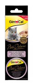 GimCat Pâté Deluxe with Liver Pieces  3x21 g
