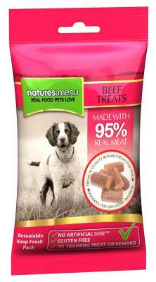 Natures Menu Real Meaty Dog Treats with Beef Oksekød 60 g