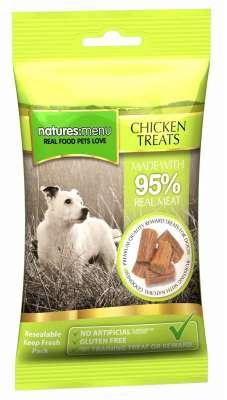 Natures Menu Real Meaty Dog Treats with Chicken Tamhøns 60 g