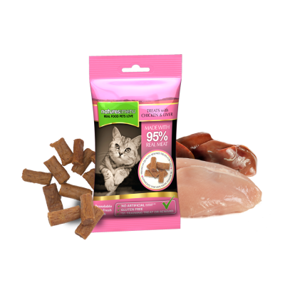 Natures Menu Real Meaty Treats Chicken & Liver Kip & Lever 60 g