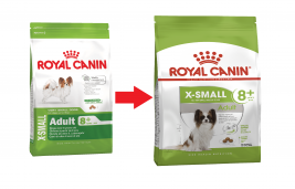 Size Health Nutrition X-Small Adult 8+ 1.5 kg merkiltä Royal Canin