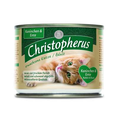 Christopherus Adult Cat - Duck & Rabbit Can 400 g, 200 g, 800 g