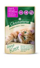 Christopherus Feine Kost - Pheasant & Chicken with Redberry for Adult Cats Pouch  85 g
