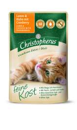 Christopherus Feine Kost - Lamb & Chicken with Cranberry Pouch  85 g