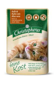 Christopherus Feine Kost Adult, Veal & Chicken with Aloe Vera in Pouch 85 g