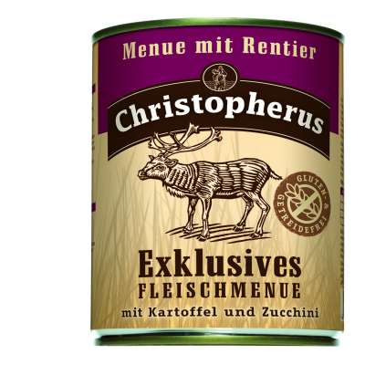 Christopherus Exclusive Meat Menu - Reindeer, Potato and Zucchini Can  800 g, 400 g, 200 g