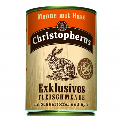 Christopherus Exclusive Meat Menu - Rabbit, Sweet potato and Apple Can  800 g, 400 g, 200 g