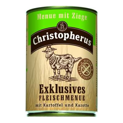 Christopherus Exclusive Meat Menu - Goat meat, Potato and Carrots Can  800 g, 400 g, 200 g
