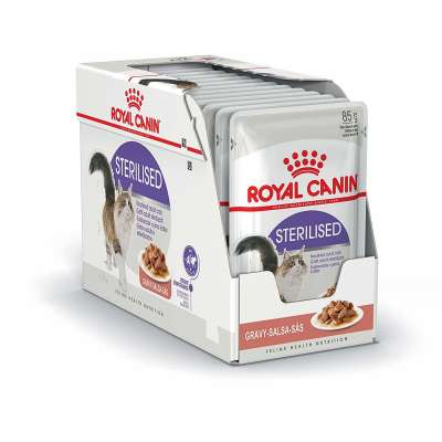 Royal Canin Feline Health Nutrition Multipack Sterilised σε Σάλτσα 12x85 g