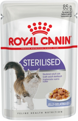Royal Canin Feline Health Nutrition Sterilised în Jeleu 85 g