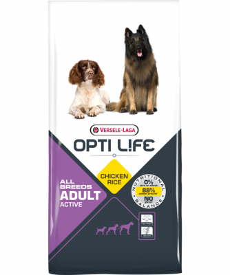 Versele Laga Opti Life Adult Active All Breeds Huhn & Reis  12.5 kg