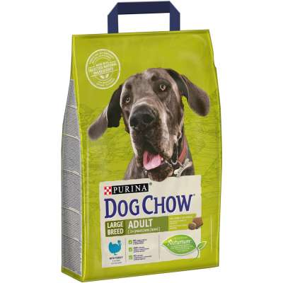 Purina Dog Chow Large Breed Adult mit Pute  2.5 kg, 14 kg
