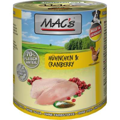 MAC's Dog - Poulet & Canneberges  400 g, 800 g, 200 g