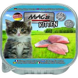 Kitten Poulet et Saumon MAC's 4027245005139