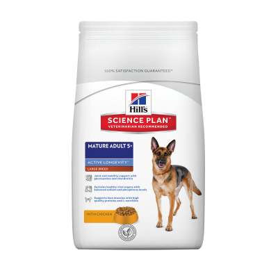 Hill's Science Plan Canine Mature Adult 5 Active Longevity Large Breed με Κοτόπουλο  3 kg, 18 kg, 12 kg