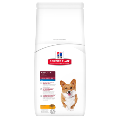 Hill's Science Plan Canine Adult Advanced Fitness Mini med Kylling  800 g, 7 kg, 2.5 kg