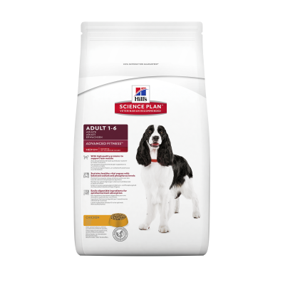 Hill's Science Plan Canine Adult Advanced Fitness Medium Kylling  2.5 kg, 12 kg