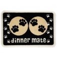 Pet Rebellion Dinner Mate Black  40x60 cm