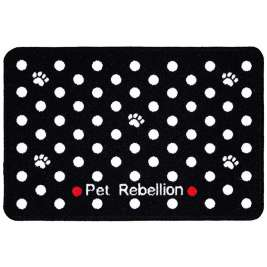 Pet Rebellion Dinner Mate Dotty Black  40x60 cm