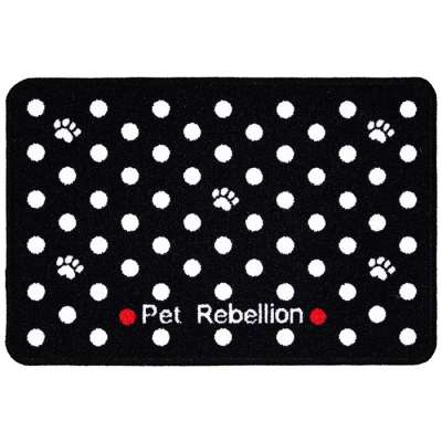 Pet Rebellion Dinner Mate Dotty Black 40x60 cm Zwart